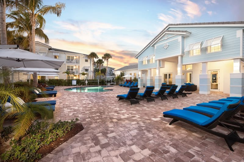 High Ridge Landing offers a resort style pool with clubhouse in Boynton Beach, Florida