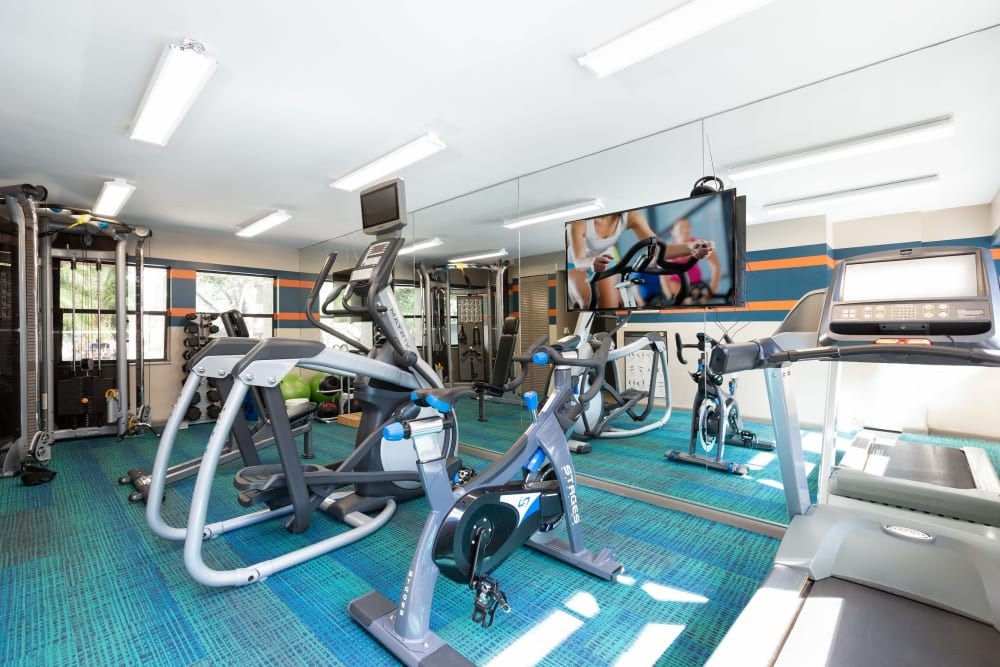 Fitness center at Siena Apartments in Plantation, Florida