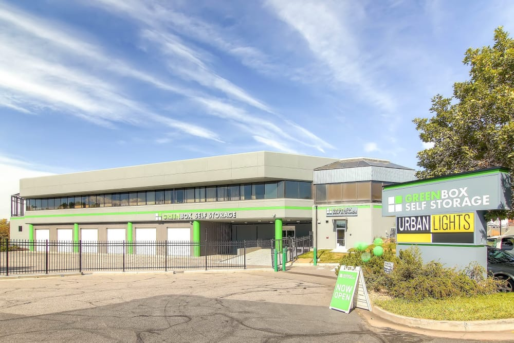 Exterior of Greenbox Self Storage in Denver, Colorado