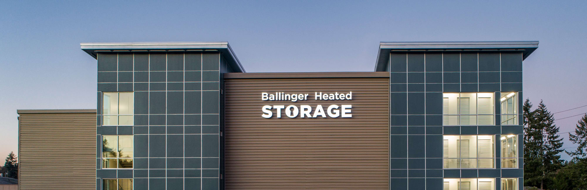 Self storage features at Ballinger Heated Storage in Shoreline, Washington