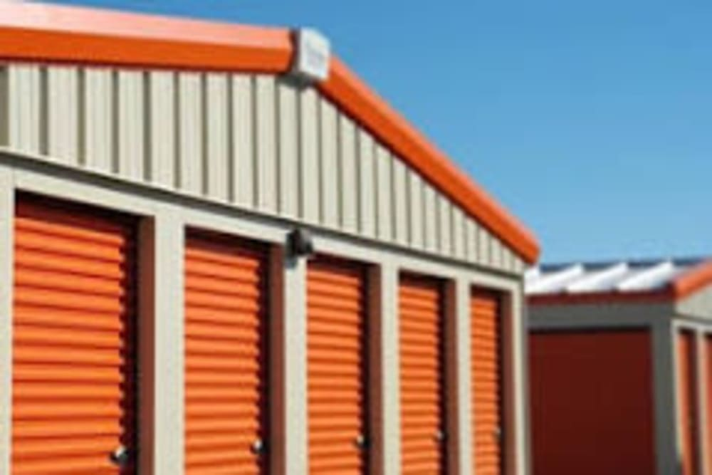 Close up of outside storage units at Apple Self Storage - Thunder Bay - Intercity in Thunder Bay, Ontario