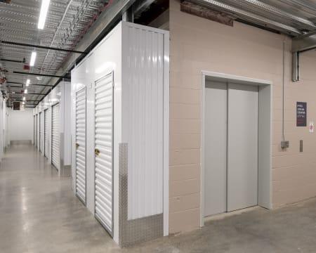 Interior storage units at StorQuest Self Storage in Redmond, Washington