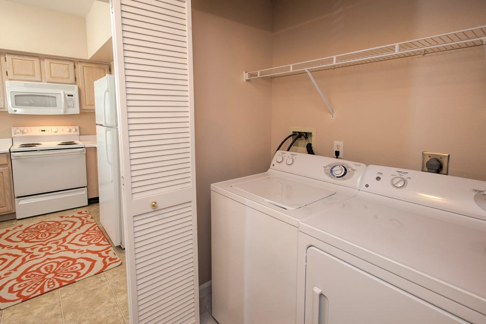 In-unit washer and dryer at The Vintage at South Meadows Condominium Rentals in Reno, Nevada