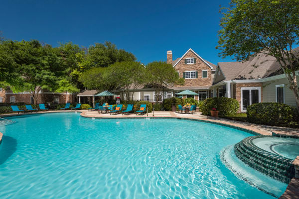 Beautiful swimming pool at The Lodge at Shavano Park in San Antonio, Texas