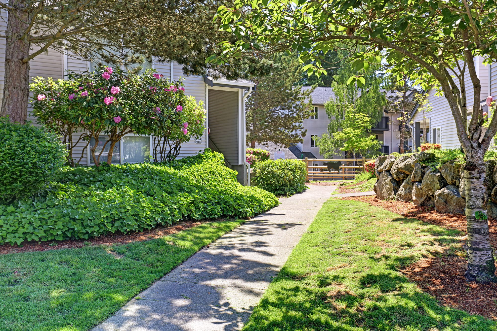 Enjoy being surrounded by beautiful landscaping at Cascade Ridge in Silverdale, Washington