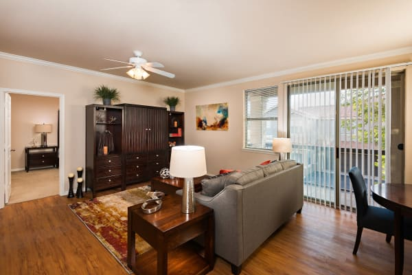 Spacious living room at Villas on Hampton Avenue