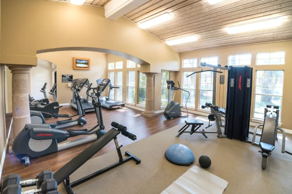 Fitness center at Estates on Frankford