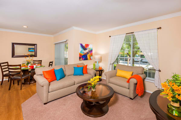 The luxurious living room at The Lodge at Shavano Park in San Antonio, Texas