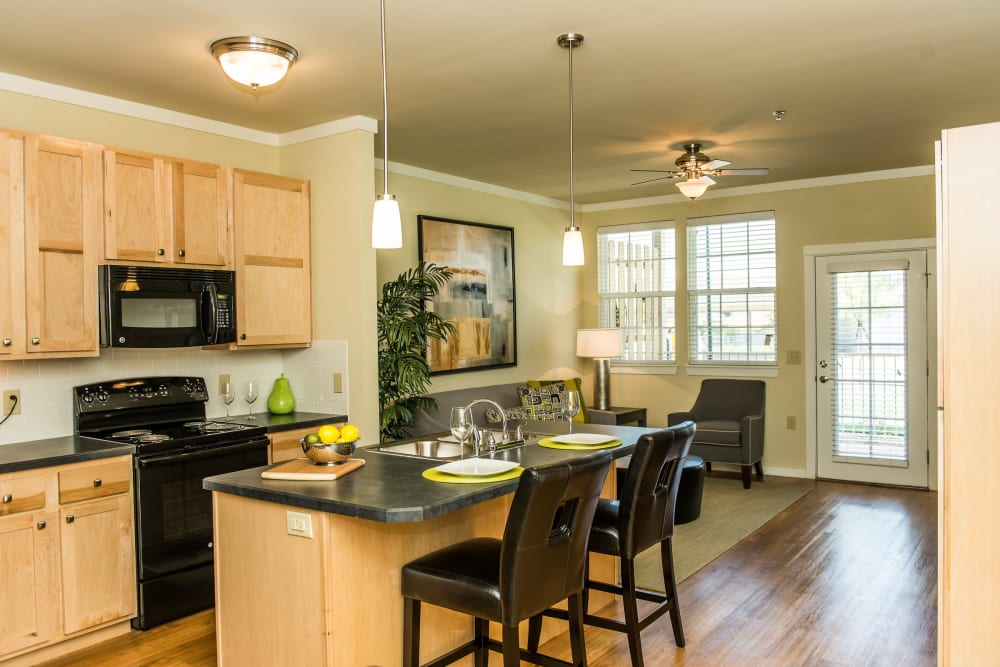 Full kitchens at Traditions at Westmoore in Oklahoma City, Oklahoma.
