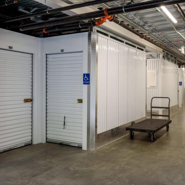 Interior units at StorQuest Self Storage in Seattle, Washington