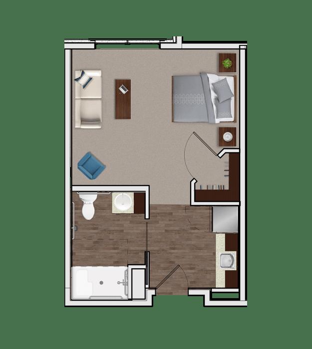 Assisted Living Designer Suite at Stonecrest at Burlington Creek in Kansas City, Missouri