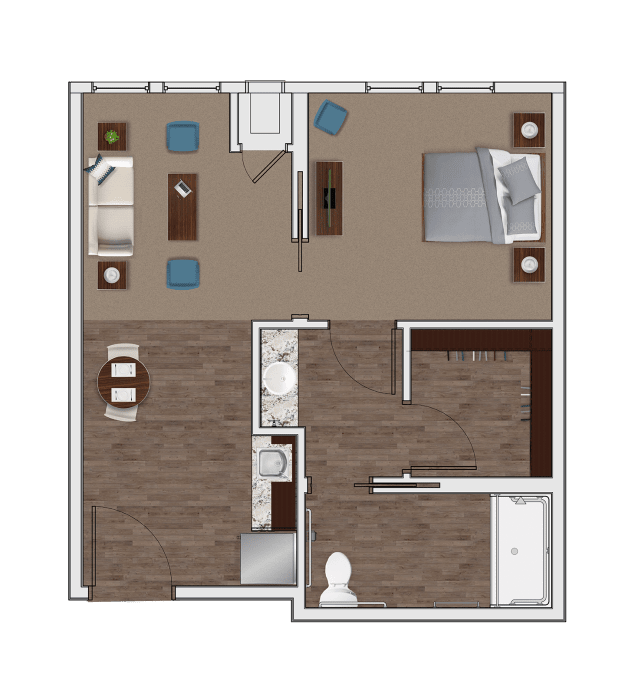 Assisted Living One Bedroom at Stonecrest at Clayton View in Saint Louis, Missouri