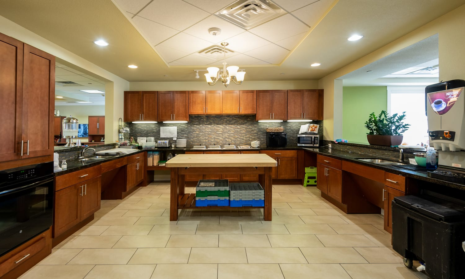 Community kitchen at MacArthur Hills in Irving, Texas