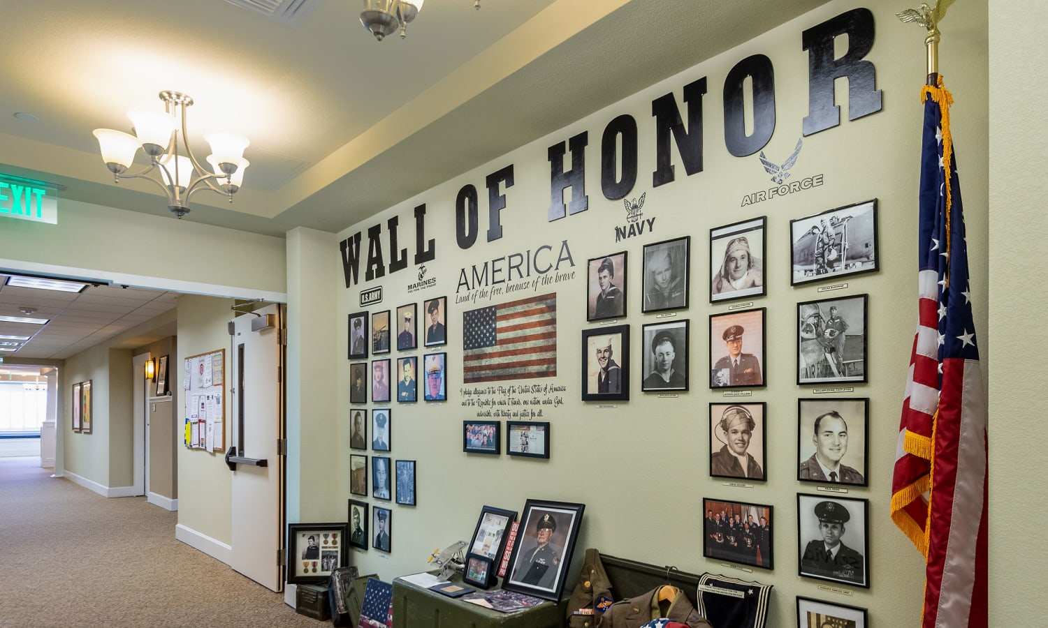 Wall of honor at MacArthur Hills in Irving, Texas