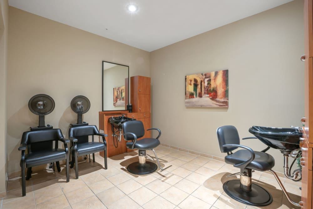 Onsite salon at Merrill Gardens at Solivita Marketplace in Kissimmee, Florida.