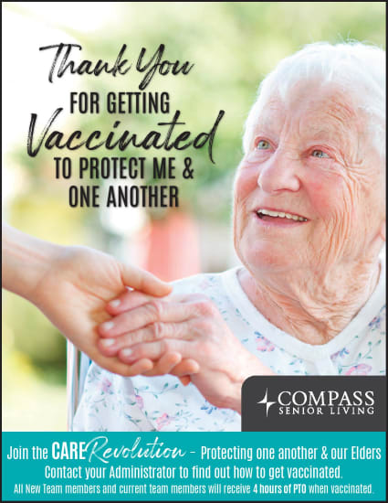 Vaccine Flyer at Timber Pointe Senior Living