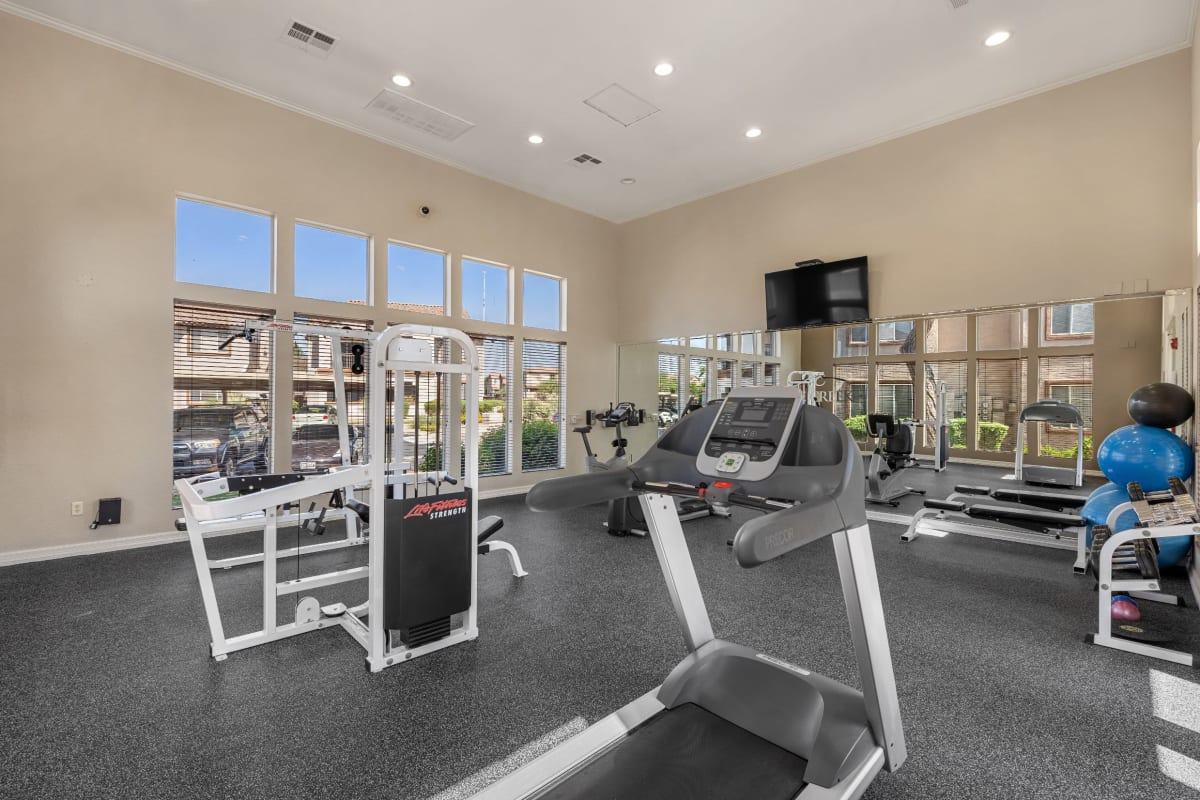 Fully equipped fitness center at Azure Creek in Cave Creek, Arizona