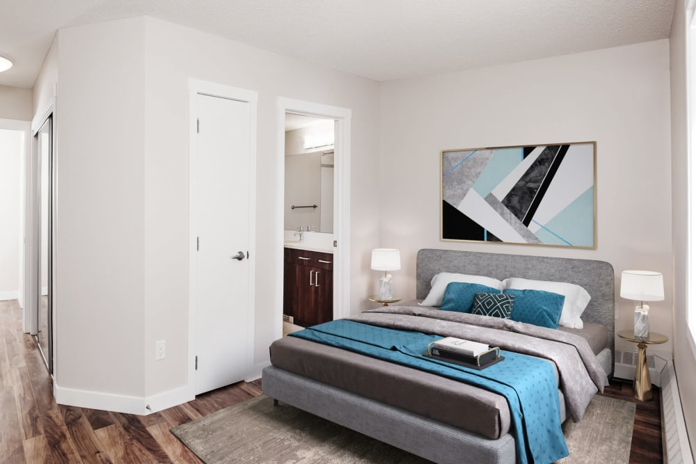 Bedroom at The Mansions in Calgary, Alberta