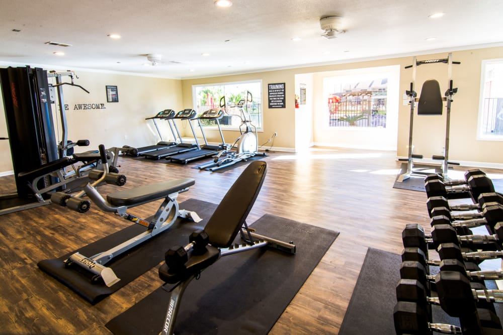 Fitness center at Reserve on Garth Rd