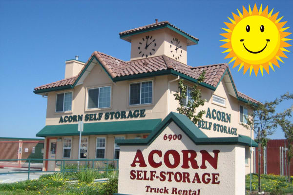 The exterior of Acorn Self Storage - Brentwood in Brentwood, California