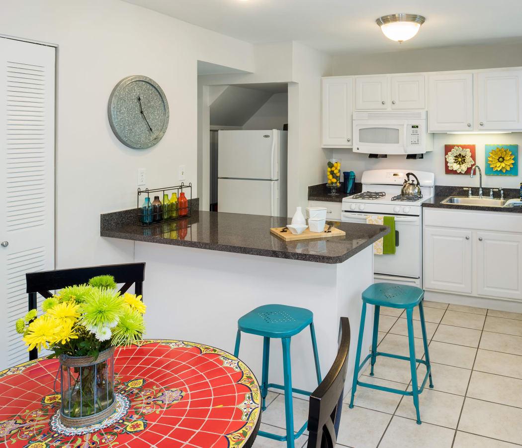 Stunning kitchen at President Village in Fall River, Massachusetts