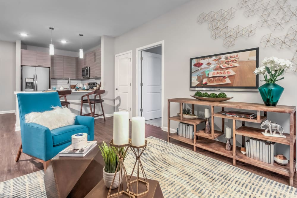 Open-concept floor plan at The Palmer in Charlotte, North Carolina