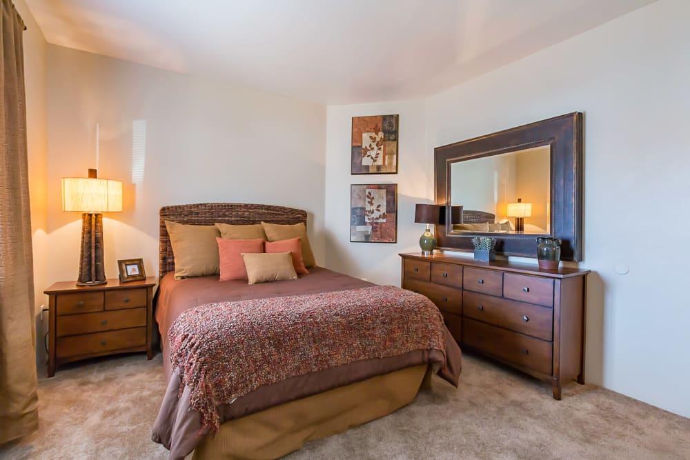 Bedroom layout at San Miguel del Bosque in Albuquerque, New Mexico