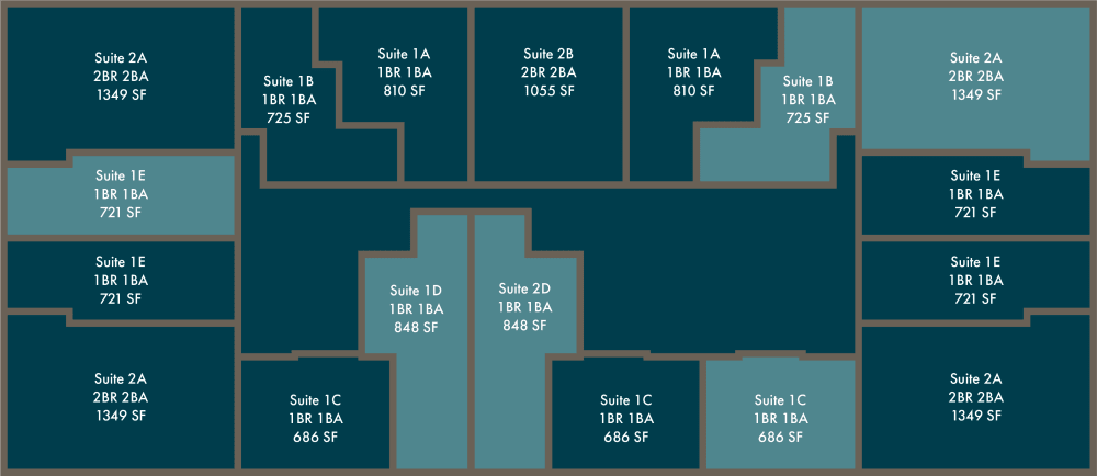 Floor layout of Altitude in Atlanta, GA