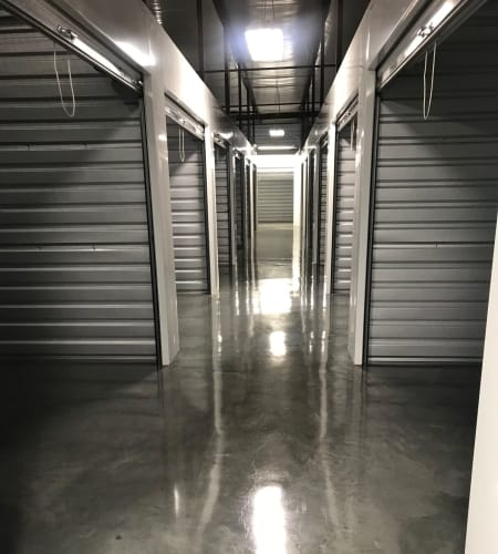 Interior units at Steele Creek Self Storage in Charlotte, NC