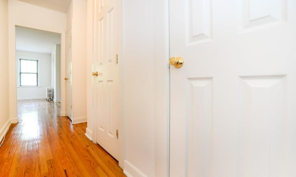 Beautiful hardwood floors at Hillside Gardens Apartment Homes