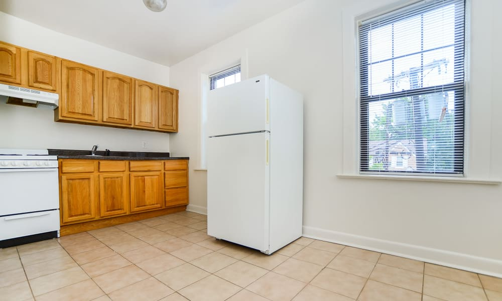 Kitchen at Hillside Gardens Apartment Homes in Nutley, New Jersey