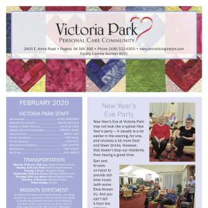 February Victoria Park Personal Care Home newsletter