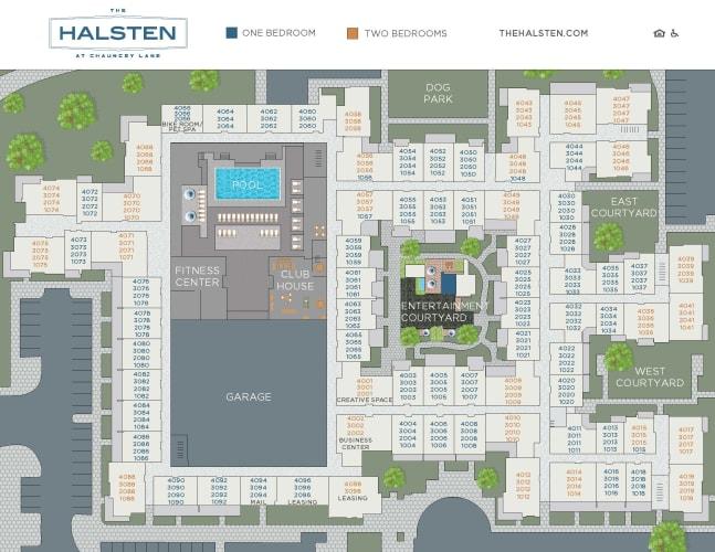 The Halsten at Chauncey Lane site plan