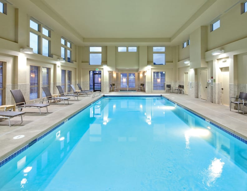Indoor saltwater pool at Affinity at Boise