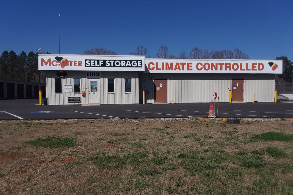 Exterior of Monster Self Storage in Westminster, South Carolina
