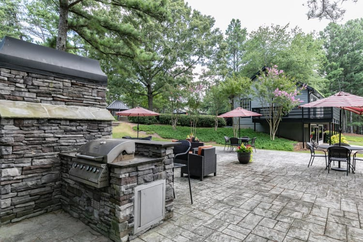 Beautiful outdoor area at The BelAire Apartment Homes in Marietta, Georgia