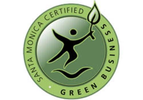 Green business logo at StorQuest Self Storage in Santa Monica, CA