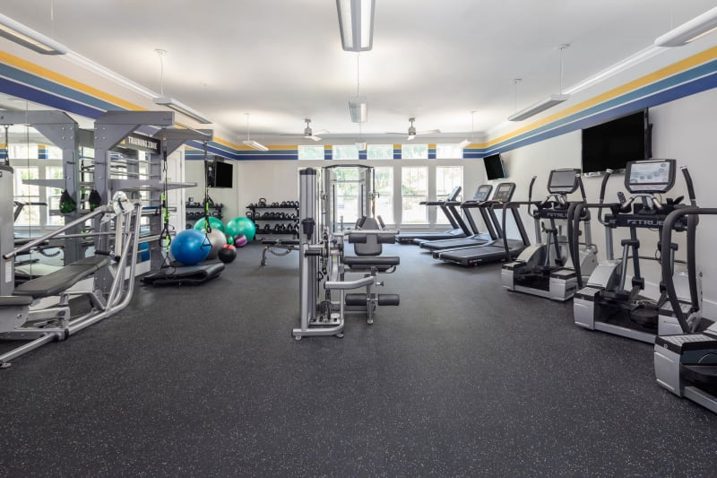 Fitness center at The District in Charlotte, North Carolina
