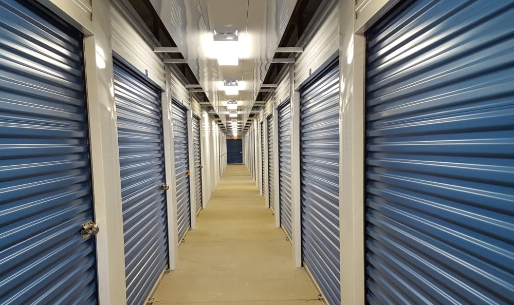 Interior storage units at Compass Self Storage in Florence