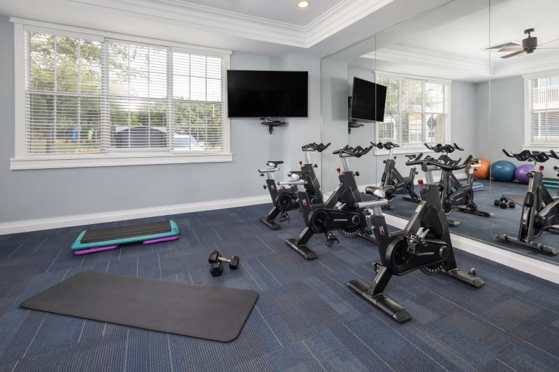 Fitness center at Luxe at 1820 in Tampa, Florida