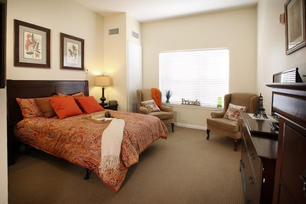 Bedroom layout at Reunion Court of The Woodlands in The Woodlands, Texas