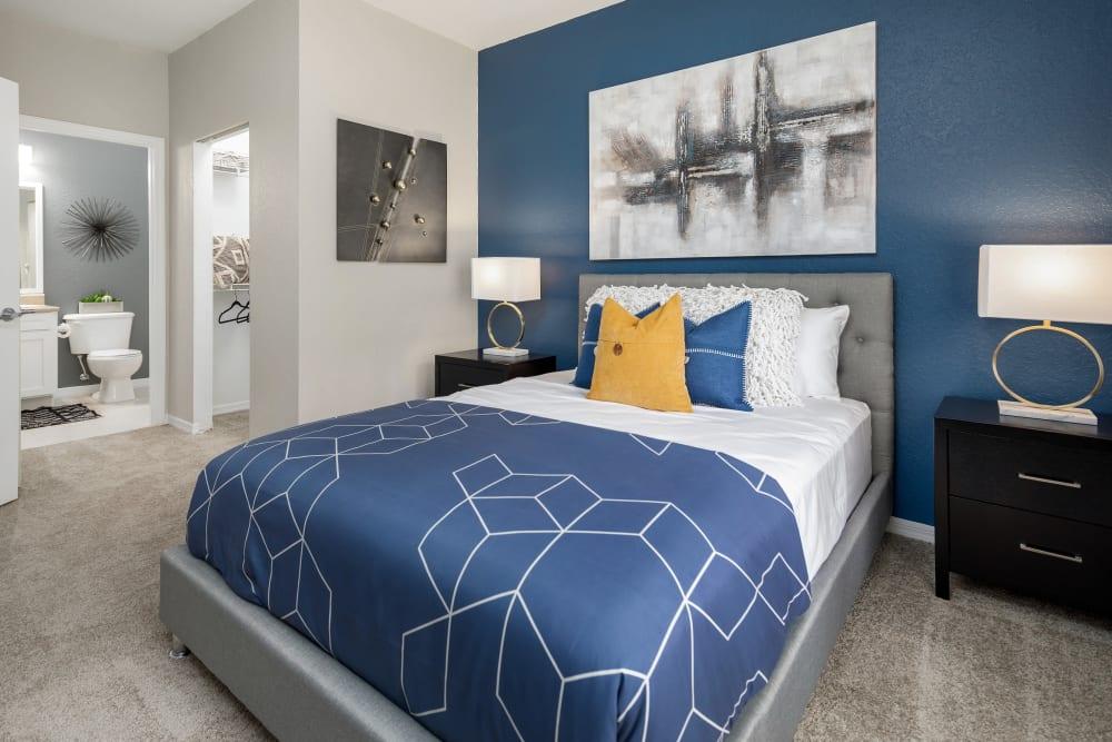 Main bedroom at Mezza in Jacksonville, Florida