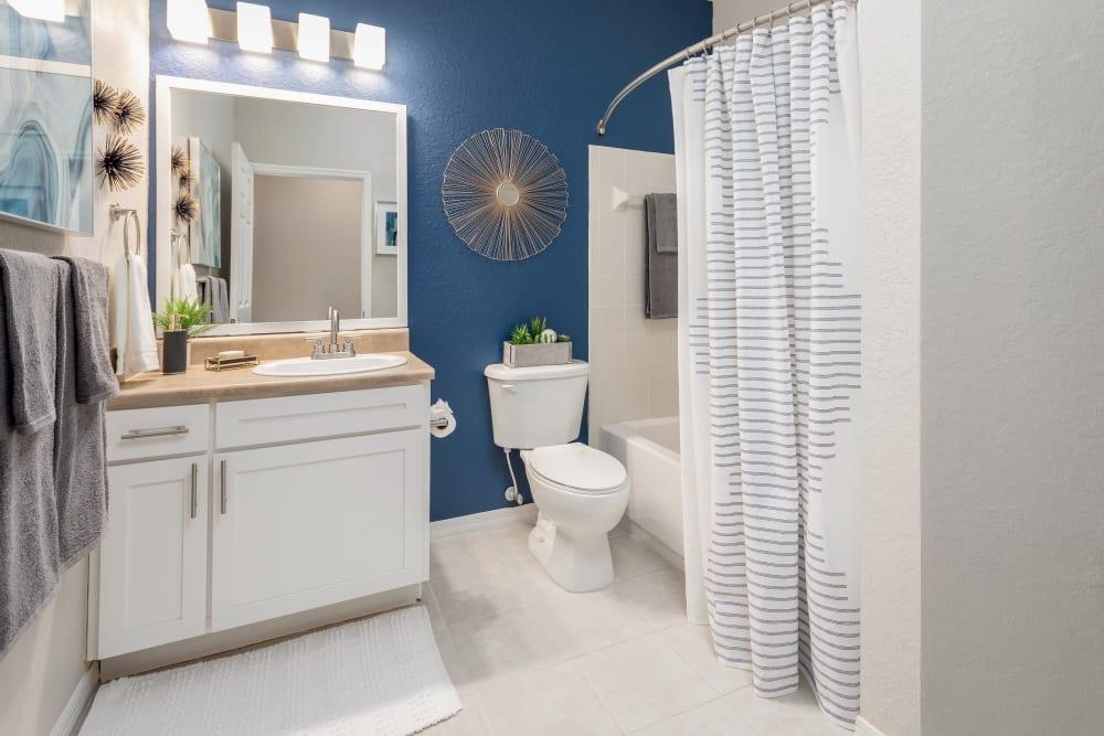 Model bathroom at Mezza in Jacksonville, Florida
