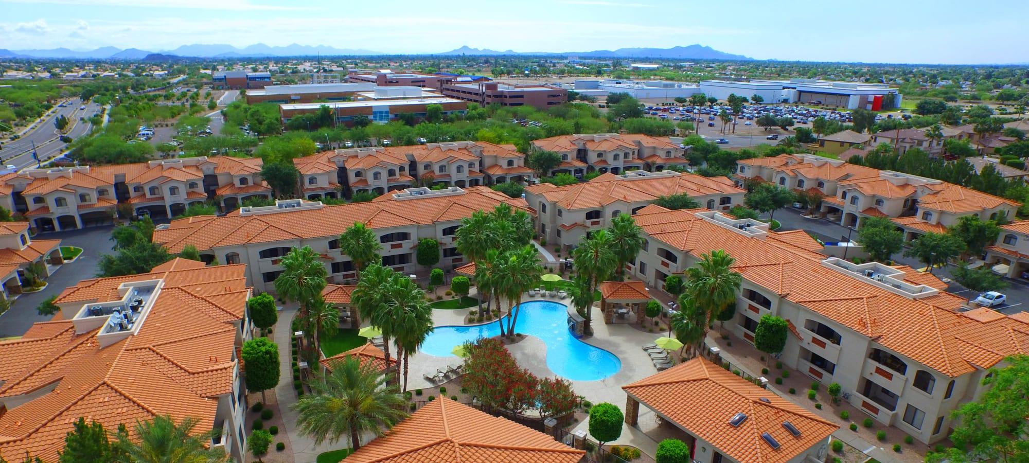 San Prado aerial view in Glendale, Arizona