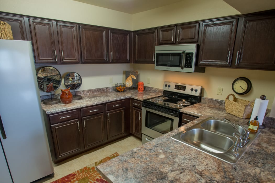 Luxury kitchen at Park at Tuscany in Oklahoma City, Oklahoma