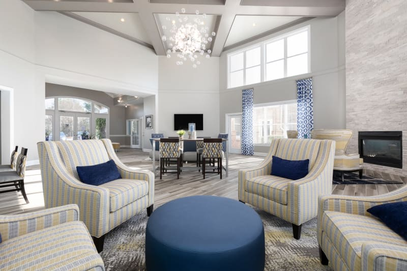 Computer area in clubhouse for residents to work in at The Mason in Ladson, South Carolina