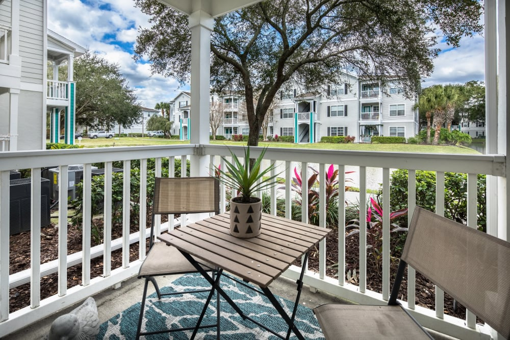 Terrific view of the community from a model home's private balcony at Amira at Westly in Tampa, Florida
