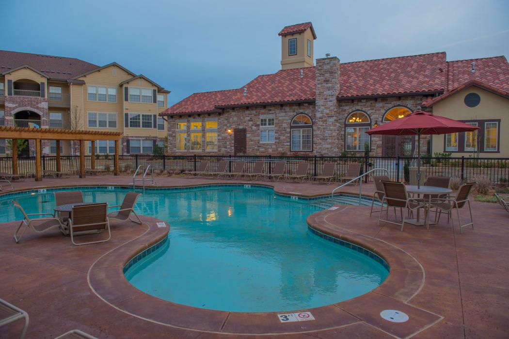 Resort style swimming pool at Park at Tuscany in Oklahoma City, Oklahoma
