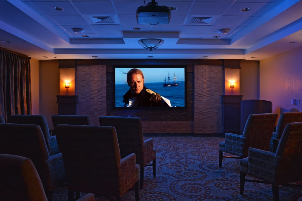 Theater room at Waterford Grand in Eugene, Oregon