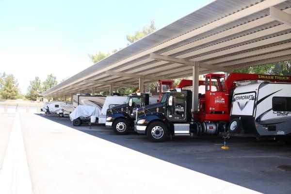 Vehicle storage at Golden State Storage - Rainbow in Las Vegas, Nevada